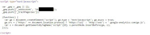 analytics script