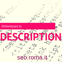 SEO e Description per i Motori di ricerca