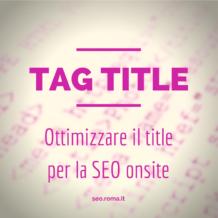 Istruzioni per l'uso del title nell'ottimizzazione on-site